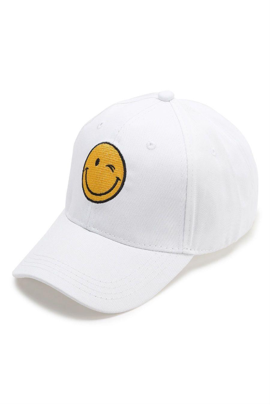 31d2de55d53 Smile Face Emoji Embroidery Baseball Cap