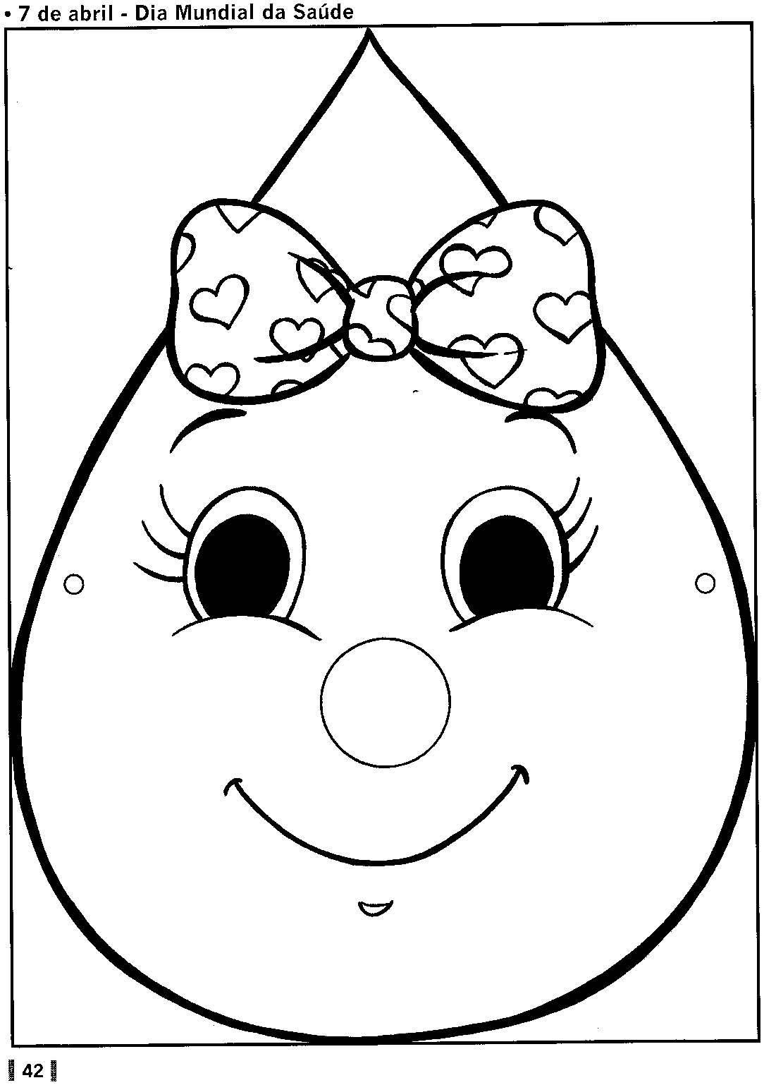 Картинка капельки для детей раскраска