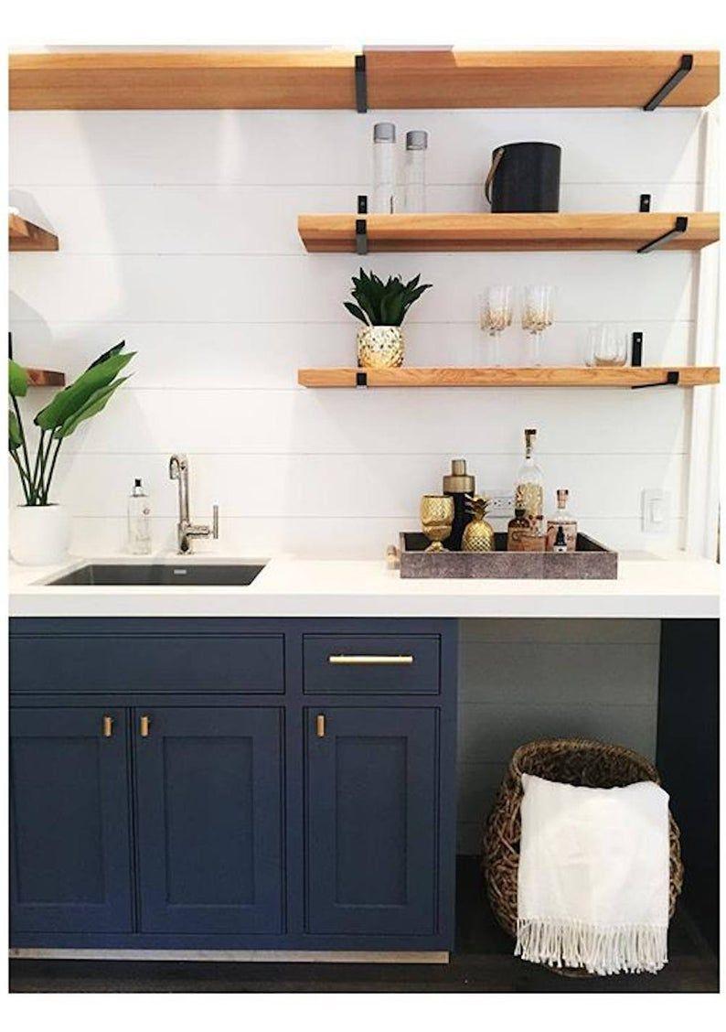 Steel Shelf Support J Bracket For Floating Shelves Bolts Included In 2020 Floating Shelves Shelves Kitchen Decor