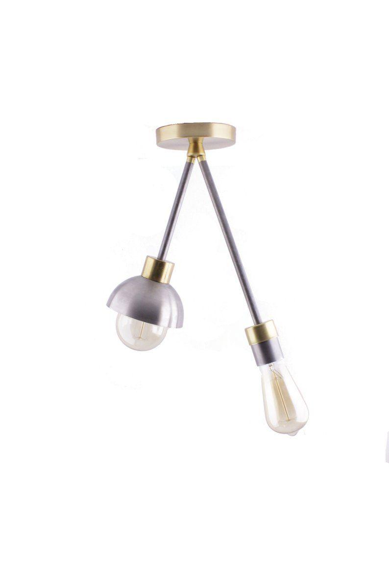 Photo of Doppelte Semi Flush Deckenleuchte | Rustikale Metallbeleuchtung | Moderne Deckenleuchte | Industrielle Beleuchtung | Industrielle Deckenbeleuchtung
