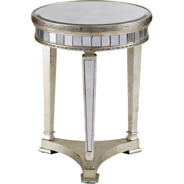 Amelie Mirrored Lamp Table ($529) ❤ Liked On Polyvore Featuring Home,  Furniture,