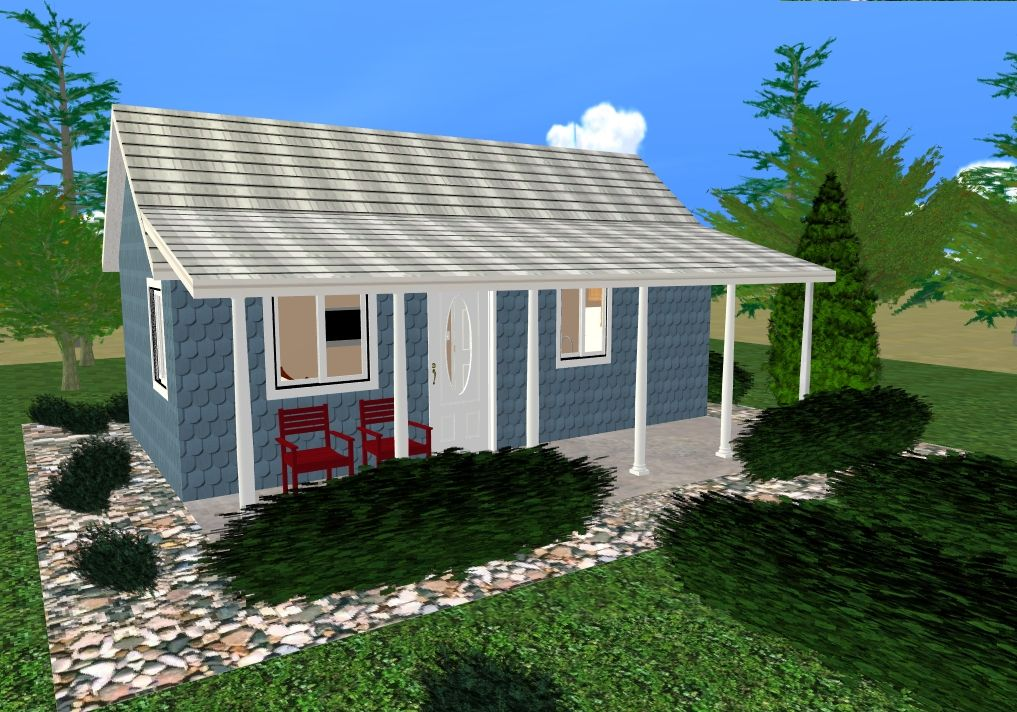 Mother in law house plans cozy home in the backyard for Backyard cottage plans