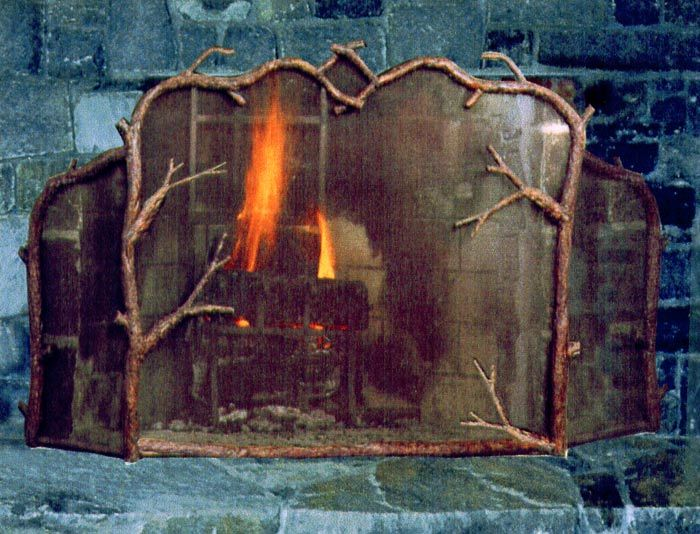 This Hand Forged Fireplace Screen Is Perfect For That Log Cabin Or