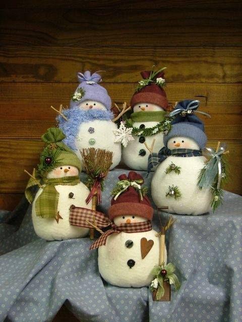 Decorações encantadoras | Craft, Snowman and Xmas