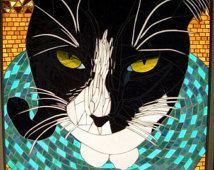 Mosaic Cat Artwork And Custom Designs From Your Picture