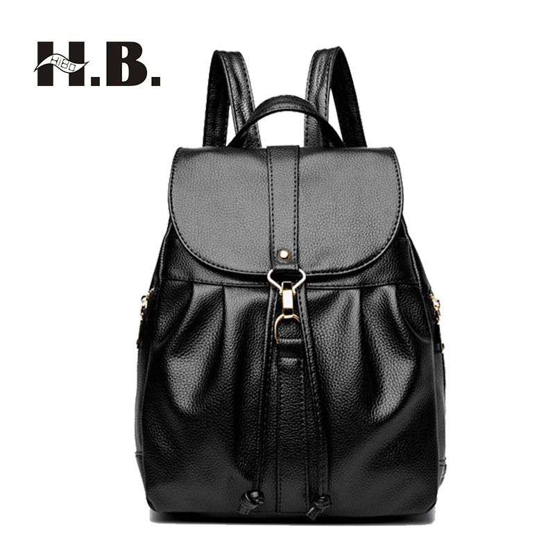 122f1633224 Women Backpacks 2017 New Fashion Travel Bags High Quality Female Shoulder  Bag PU Leather Backpacks for Girls Mochilas Mujer