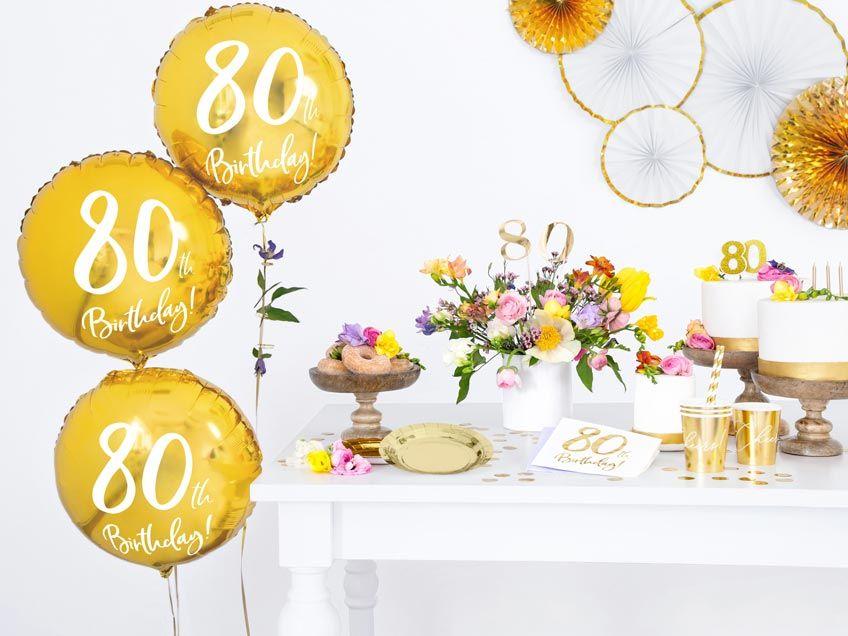 Gib Zum 80 Geburtstag Einen Brunch Setze Hohepunkte Mit Meilenstein Deko 50 Geburtstag Ballons 50 Geburtstag Dekorationen Geburtstag Luftballons