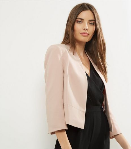 latest releases order big discount sale Shell Pink Cropped Smart Jacket | New Look | Business casual ...