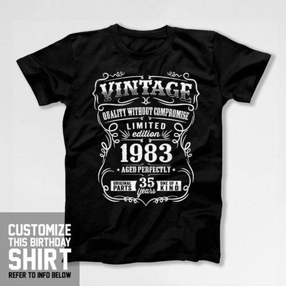35th Birthday Gift Ideas For A 35 Year Old Mens T Shirt Present