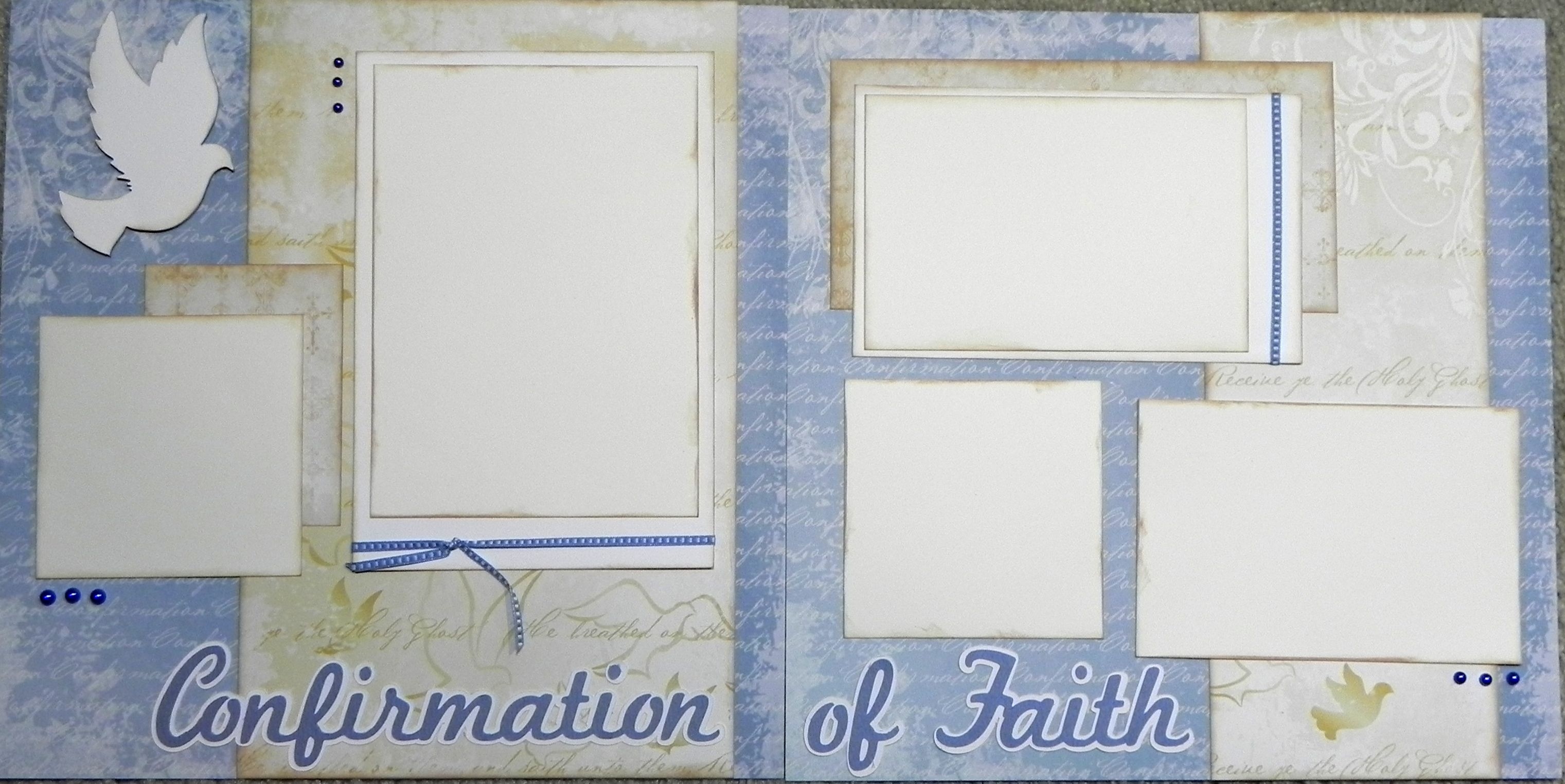 Scrapbook ideas with ribbon - Images Of Confirmation Scrapbook Pages Dove The Pre Cut Photo