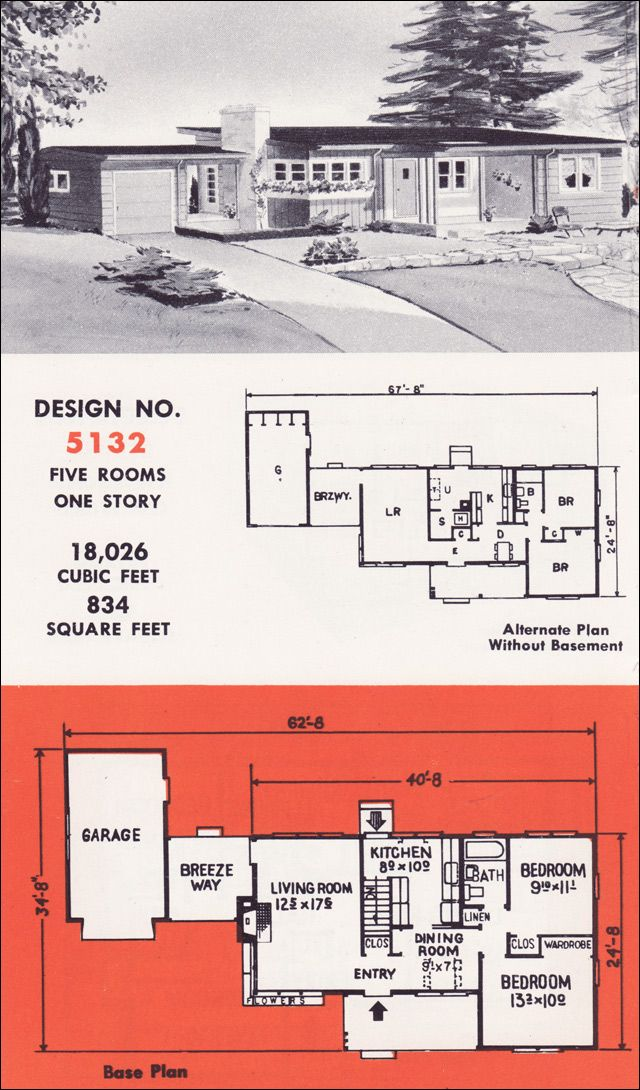 images about Mid Century House Plans on Pinterest   Mid       images about Mid Century House Plans on Pinterest   Mid century modern  Home building plans and Mid century