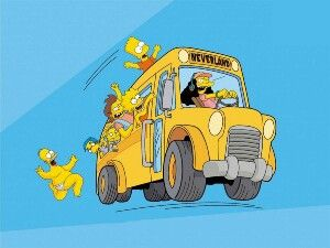 Pin By Todd Burt On School Bus With Images Simpsons Funny The