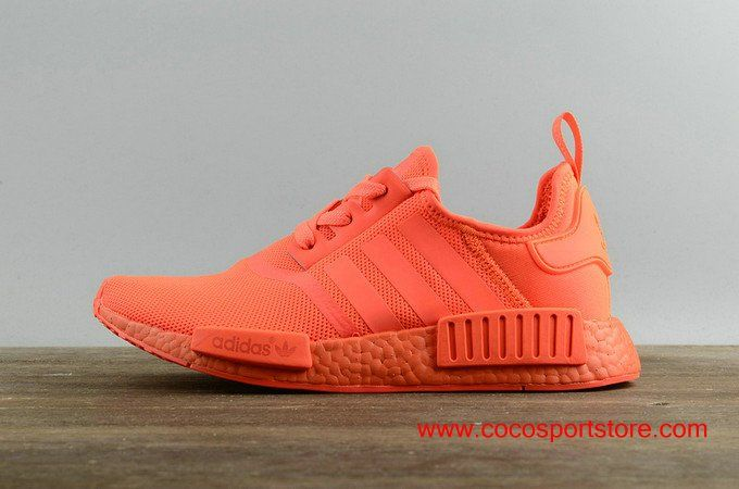 Women s Stylish Adidas NMD Runner S31507 All Red Shoes Originals ... f939abe8d