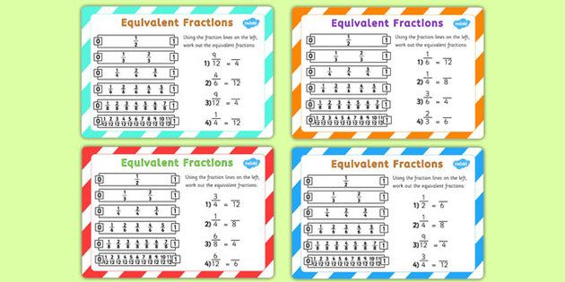 Equivalent Fractions Challenge Cards | Projects to Try | Pinterest ...