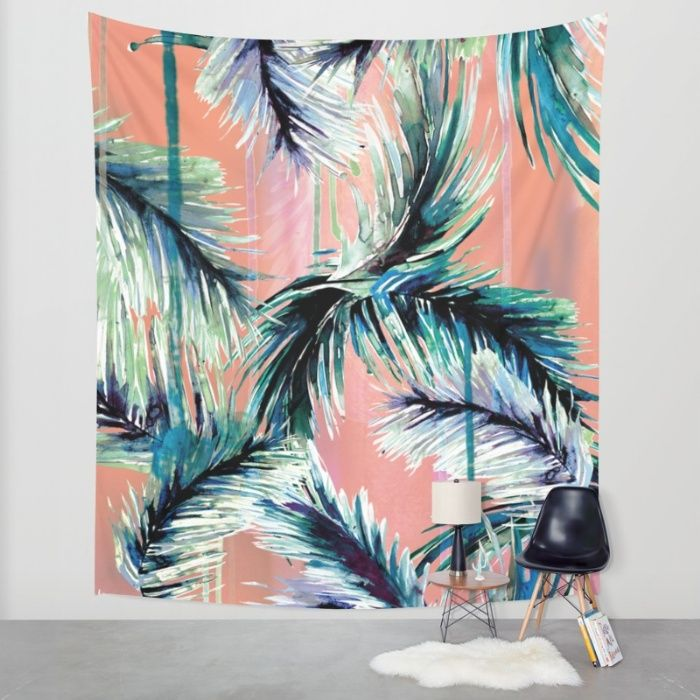 Pink tropical haze Wall Tapestry by Nikkistrange | Society6