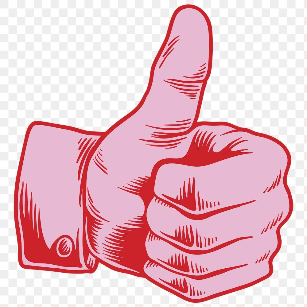 Red Thumbs Up Sticker Design Element Free Image By Rawpixel Com Tvzsu Thumbs Up Drawing Sticker Design Free Illustrations
