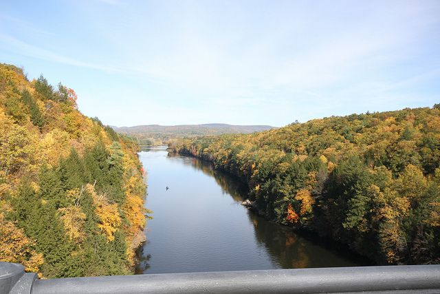 View from the French King Bridge. it crosses the Connecticut River at Gill, MA