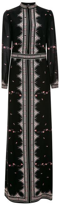 Vilshenko Florence Printed Silk-Crepe Maxi Dress Black on shopstyle.com