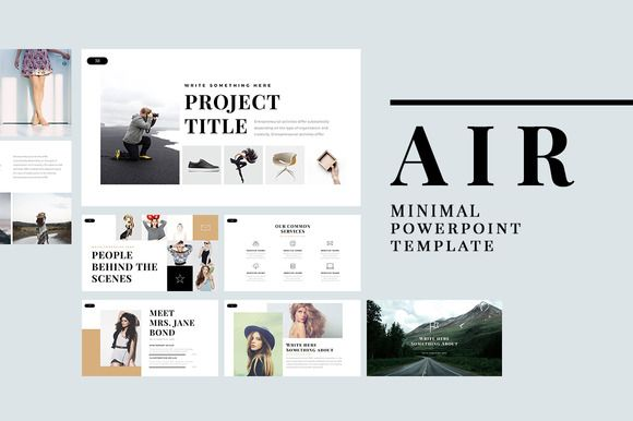 air minimal powerpoint templateslidedizer on @creativemarket, Presentation templates