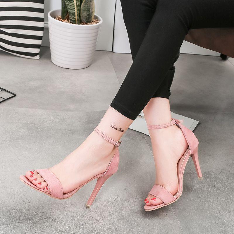 2017 Wholesale New Design Fashion Women Stilettos High Heel Sandals Ladies  Casual Summer Dress Shoes 521f20c9e691