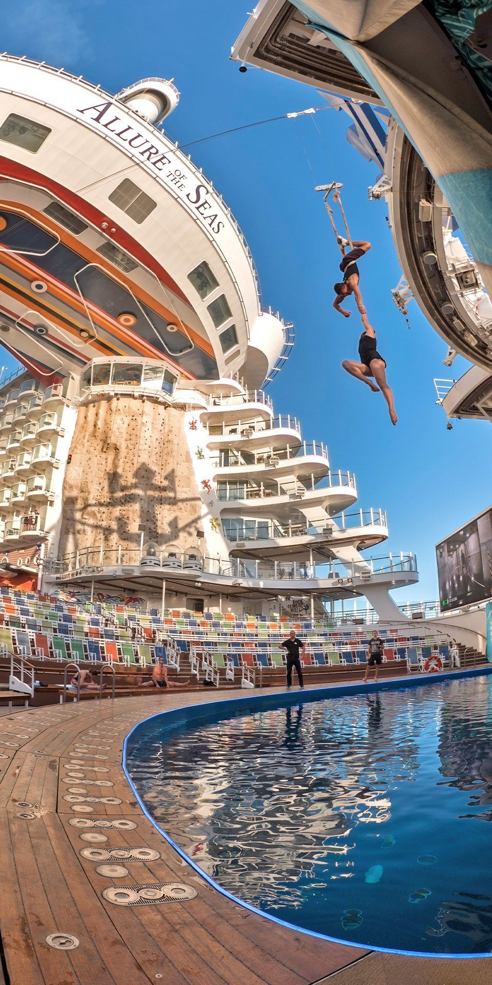 Allure Of The Seas Forget Same Old Poolside Lounging Allure Of The Seas Takes Thrills To New Lev Cruise Vacation Cruise Ships Interior Cruise Ship Pictures