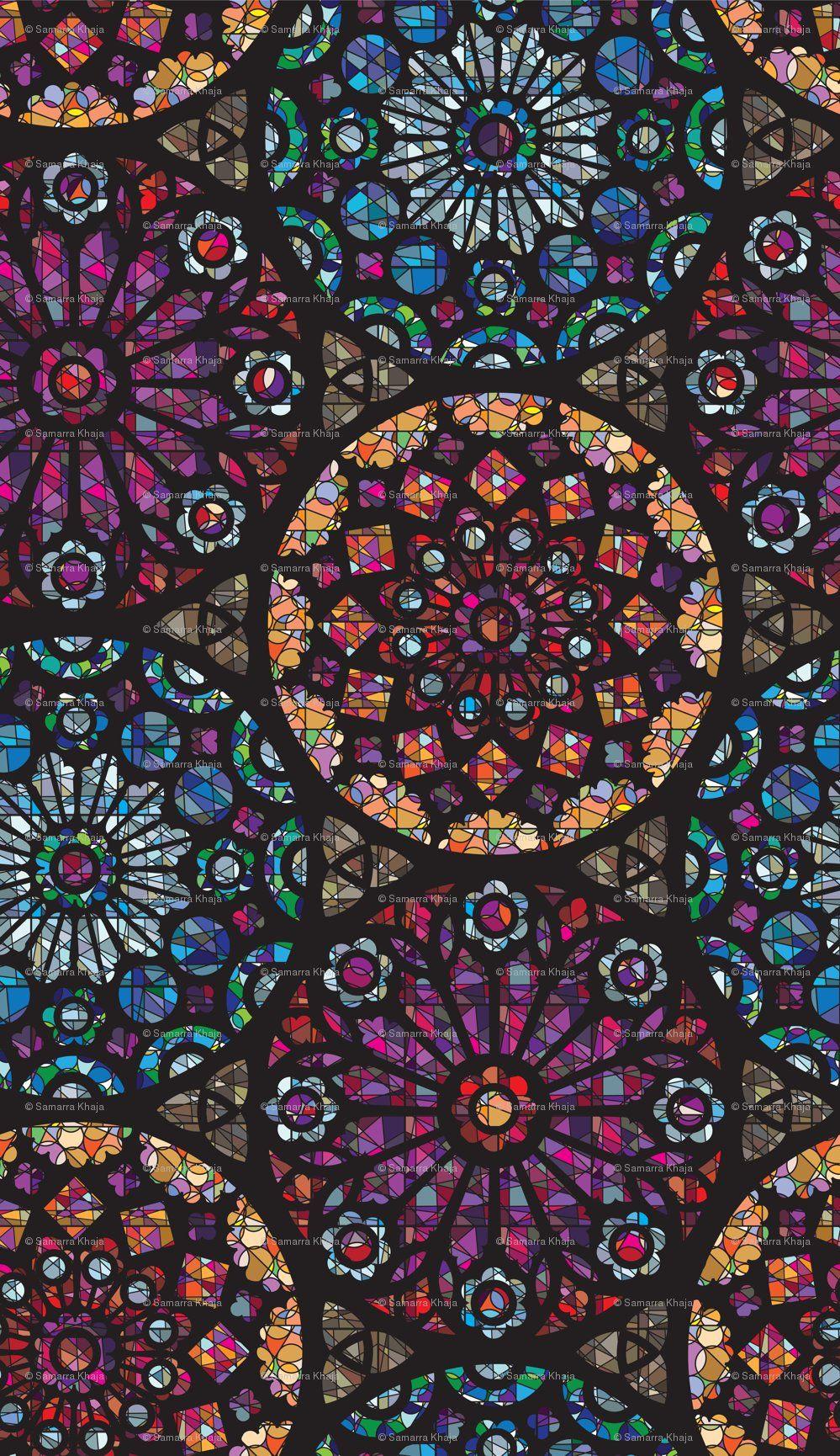 Rosetones Cristal Manchado de Ventanas | Rosetones | Pinterest ...