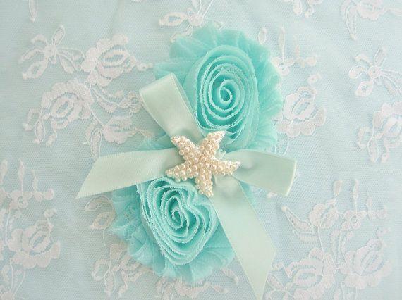 Bridesmaid Hair Clip,  Aqua Beach Headband, #weddings #accessories @EtsyMktgTool http://etsy.me/2fl5veb