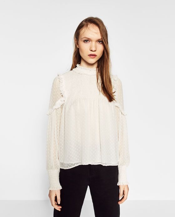 a9b8d04e Image 3 of PLUMETIS TOP from Zara | U P_T O P | Tunic tops, Zara ...