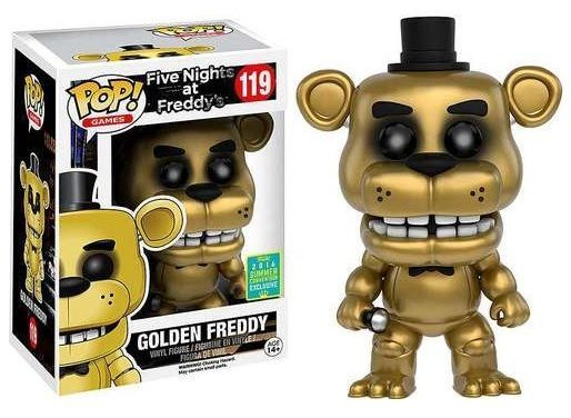 Fnaf Golden Freddy Sdcc 2016 Funko Pop Vinyl Figure With Images