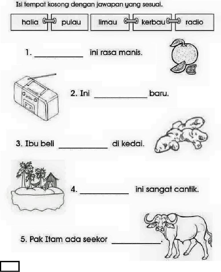 Soalan Ujian Bahasa Melayu Prasekolah In 2020 Kindergarten Reading Worksheets Reading Worksheets Writing Sentences Kindergarten
