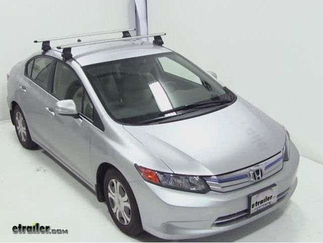 Thule Wingbar Evo Crossbars Aluminum Silver 53 Long Qty 2 Thule Roof Rack Th711400 Thule Roof Rack Roof Rack Civic Car