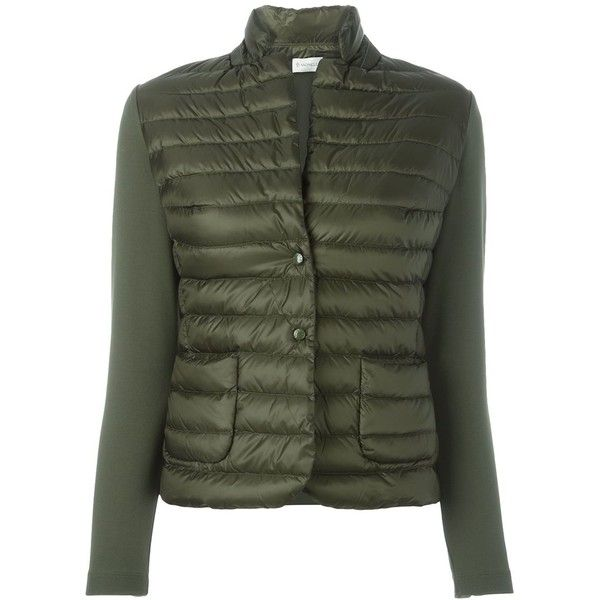 Moncler 'Lans' puffer jacket ($540) ❤ liked on Polyvore featuring outerwear,