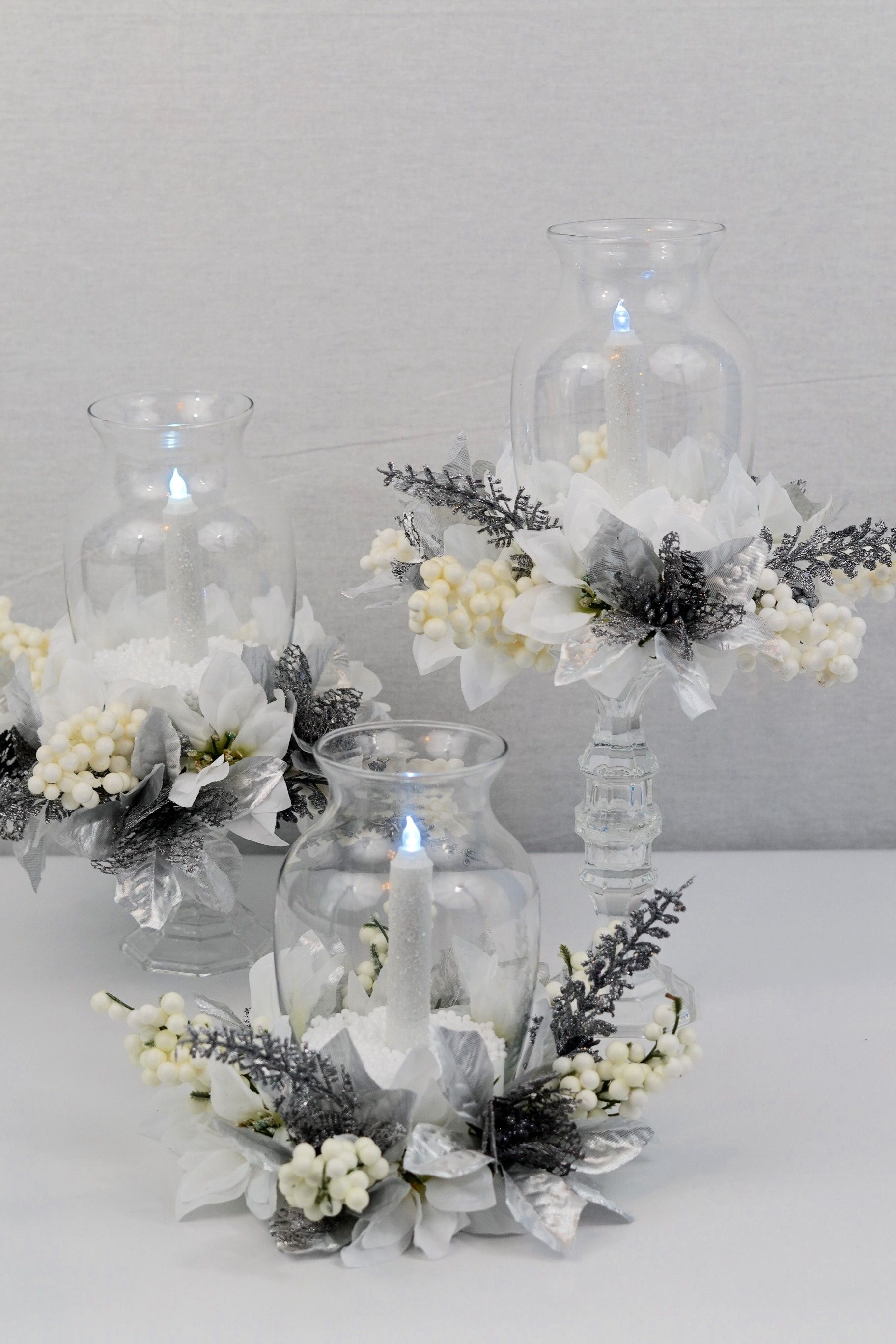 dollar tree 7 winter s night diy christmas centerpiece diy rh pinterest com