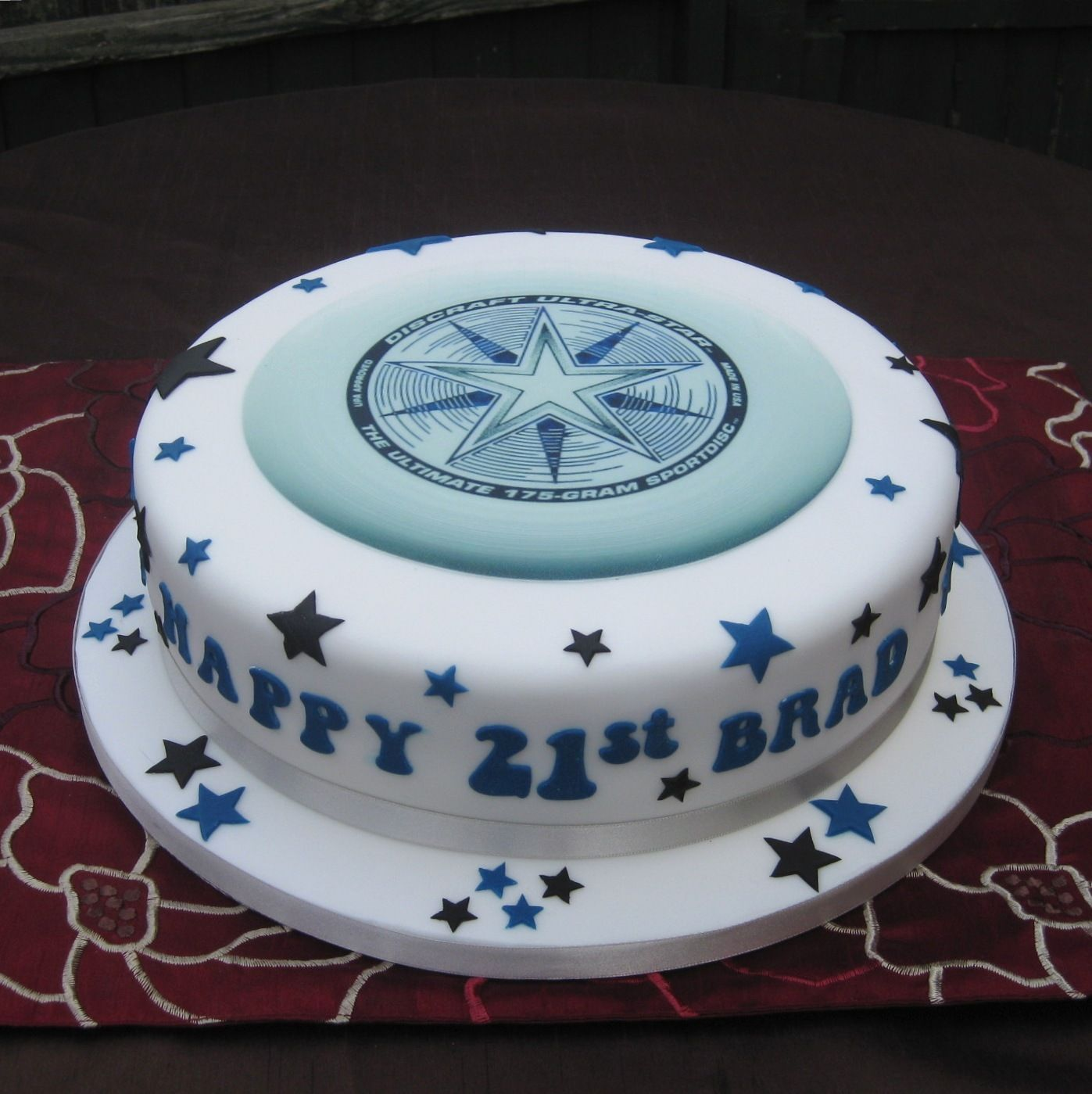 Dallas cowboys birthday cake ideas and designs - Extreme Frisbee Birthday Cake