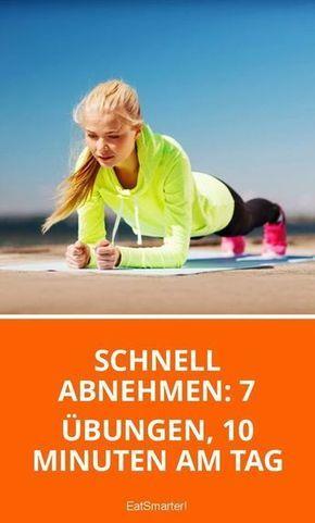Schnell abnehmen: 7 Übungen, 10 Minuten am Tag #corepilates