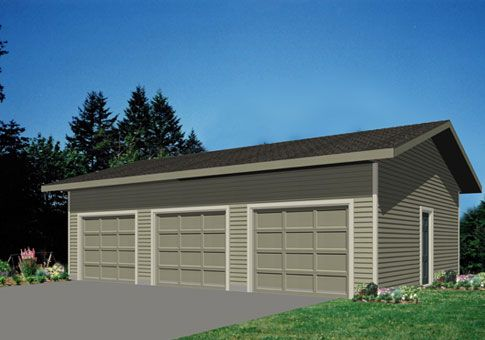 The Garage 3 garage package from Linwood Homes is a 3car kit that – 3 Car Garage Plans Free