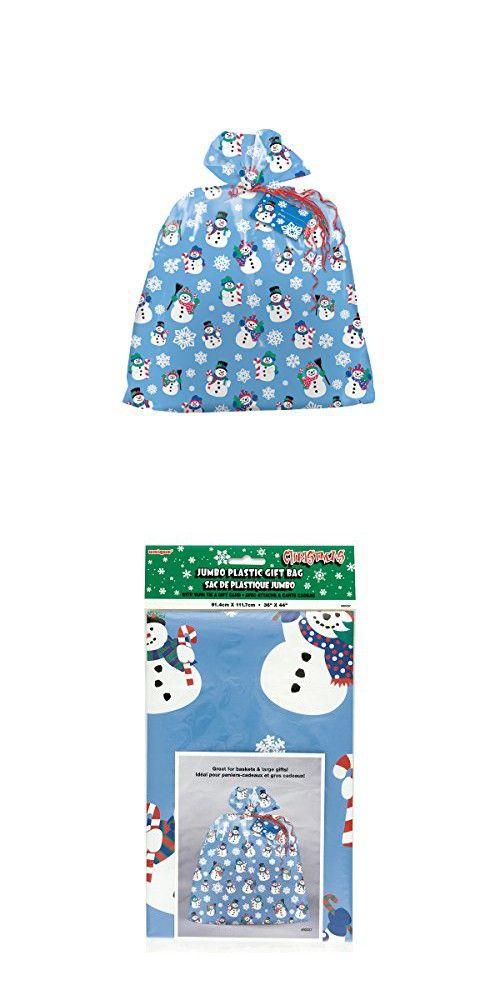 Plastic Jumbo Snowman Holiday Gift Bag