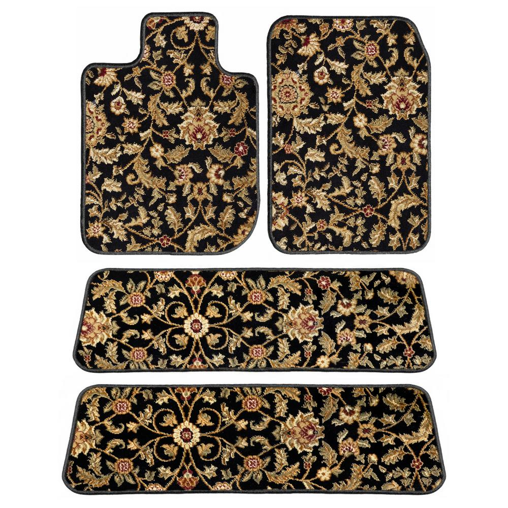 GGBAILEY Ford Explorer Black Oriental Car Mats, Custom Fit 2006-2010 Driver, Passenger, 3rd and 4th Row Carpet Car Mats (4-Piece)-D3543A-LSA-BK-OR - The Home Depot