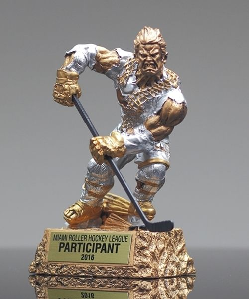 Release The Hockey Monster In You All Kids Especially The Boys Will Go Crazy Over These Hilariously Animated Looking Trophies Hockey Trophies Hockey Trophy