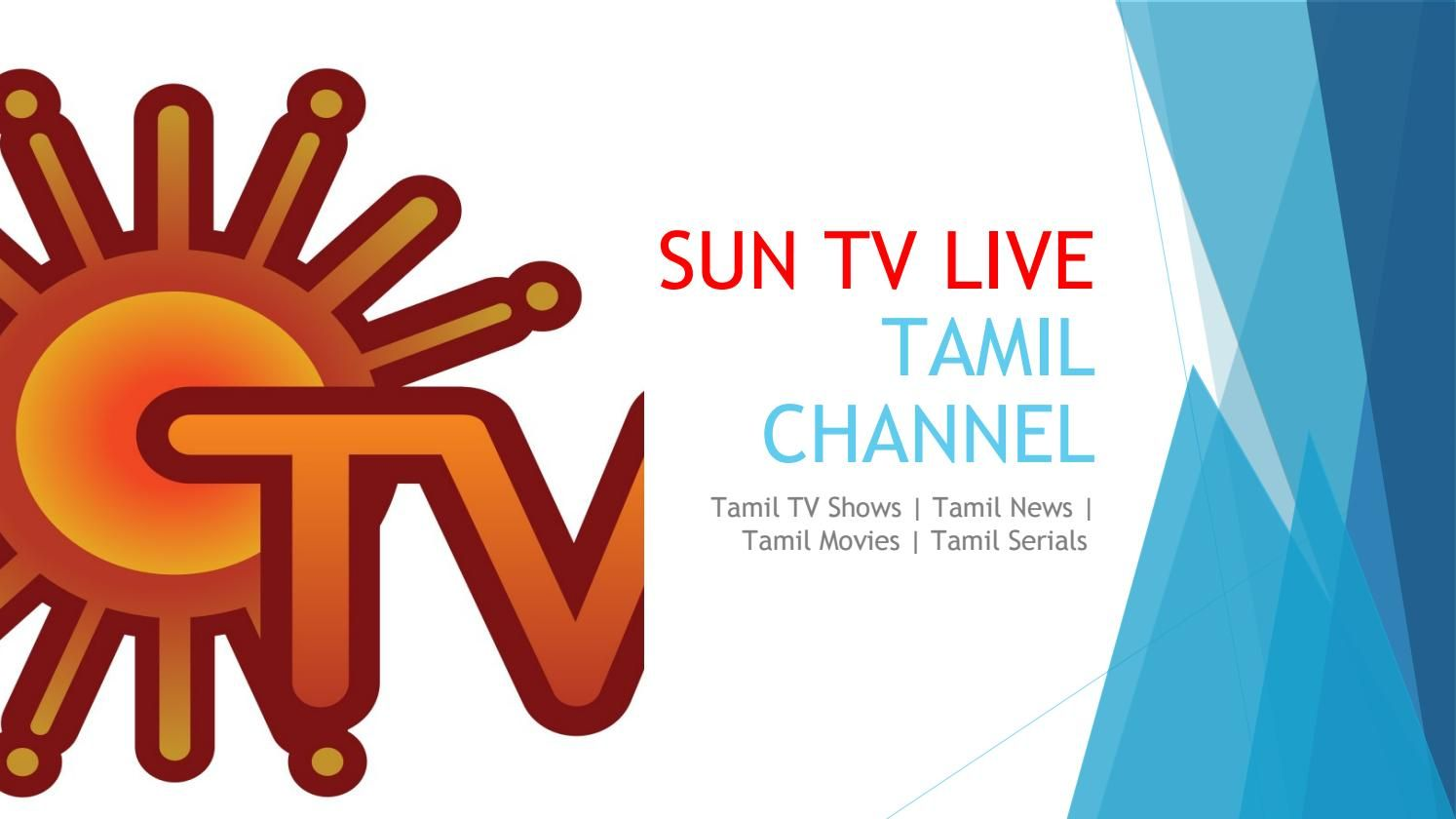 Sun tv live | Tamil TV Channels in 2019 | Tv channels, Live