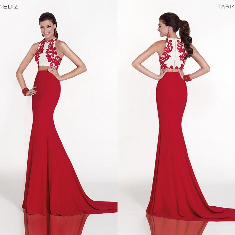 Red Two Piece Prom Dress Google Search Prom2k16 Prom Dresses