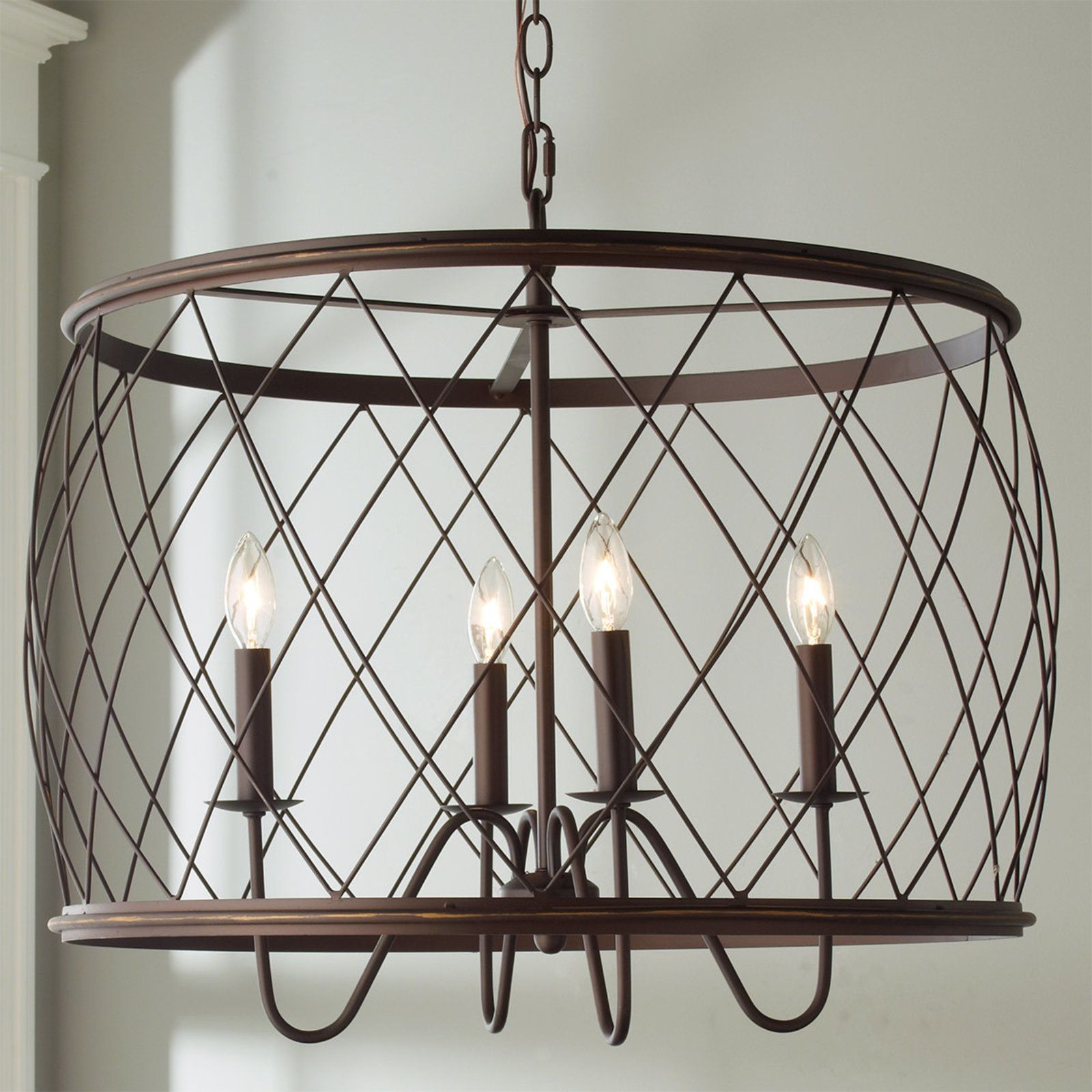 Trellis Cage Drum Chandelier Shades Of Light