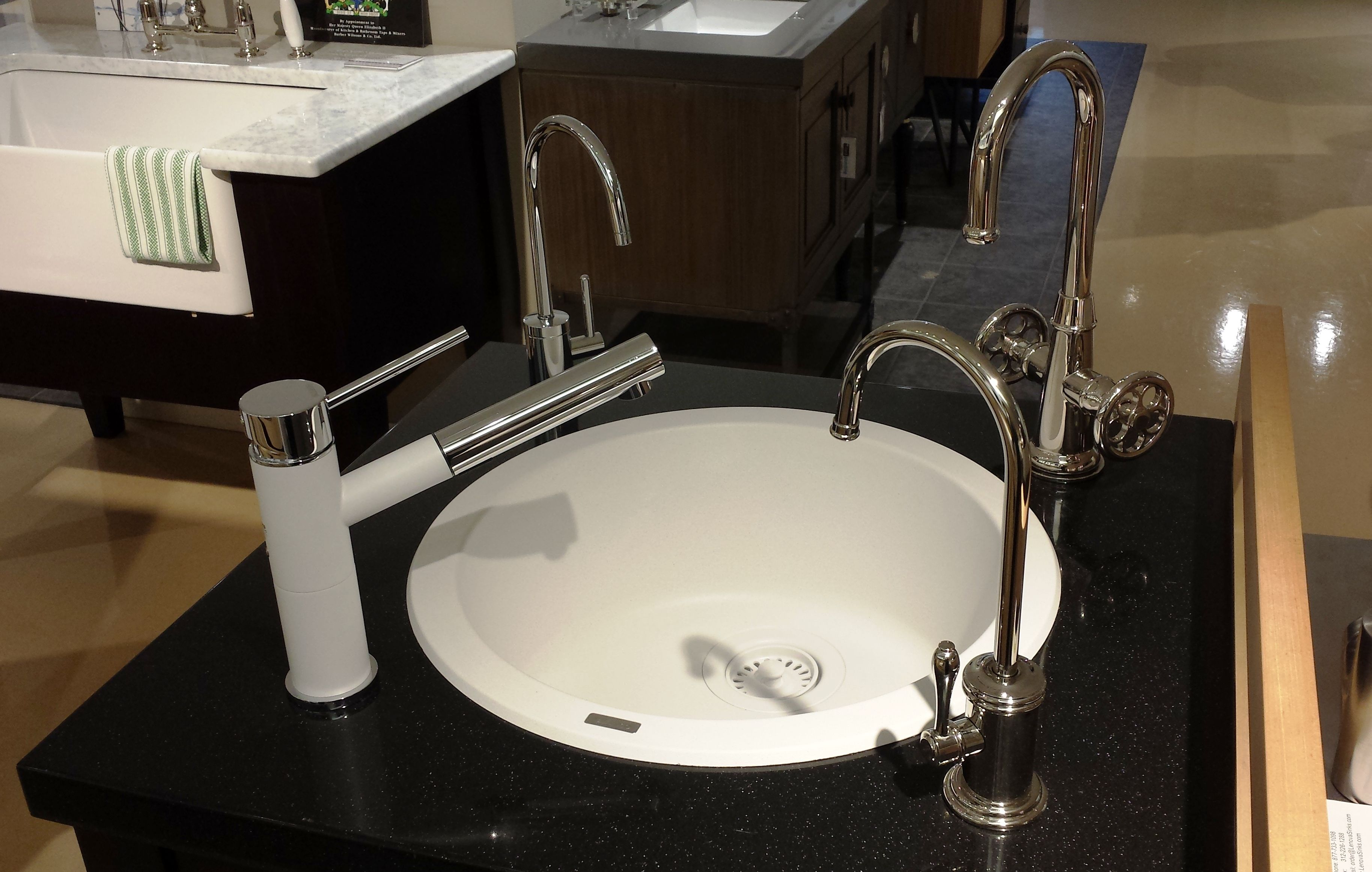 White composite faucet & sink by Blanco, filter faucets by ...