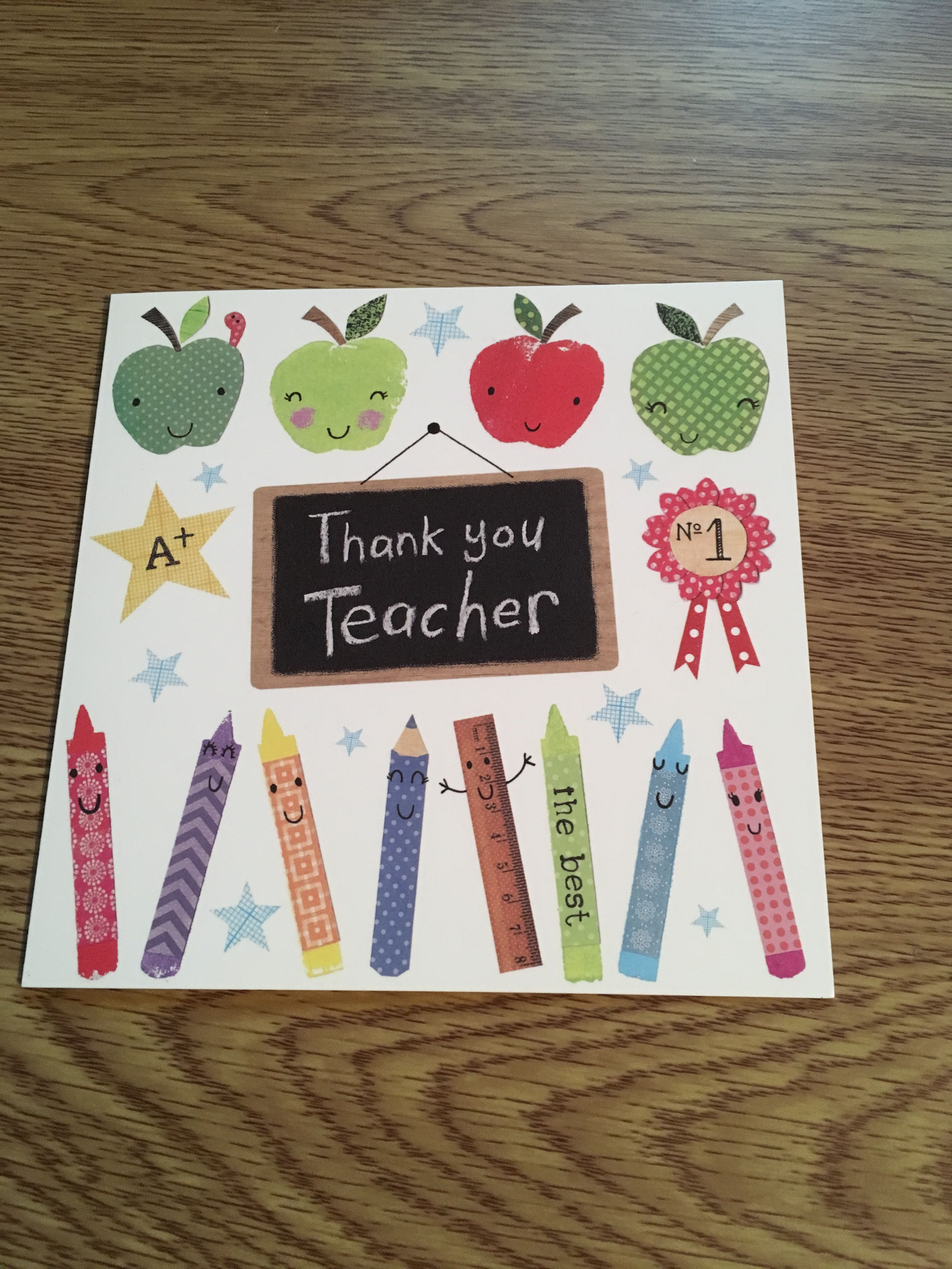 Thank You Teacher Cards Now In Stock Thankyou Cards Greetingcards