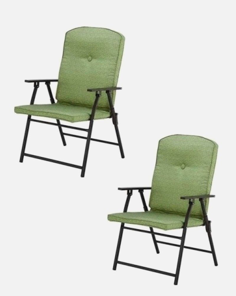 Mainstay Padded Folding Lawn Chairs Lawn Chairs Garden Chairs
