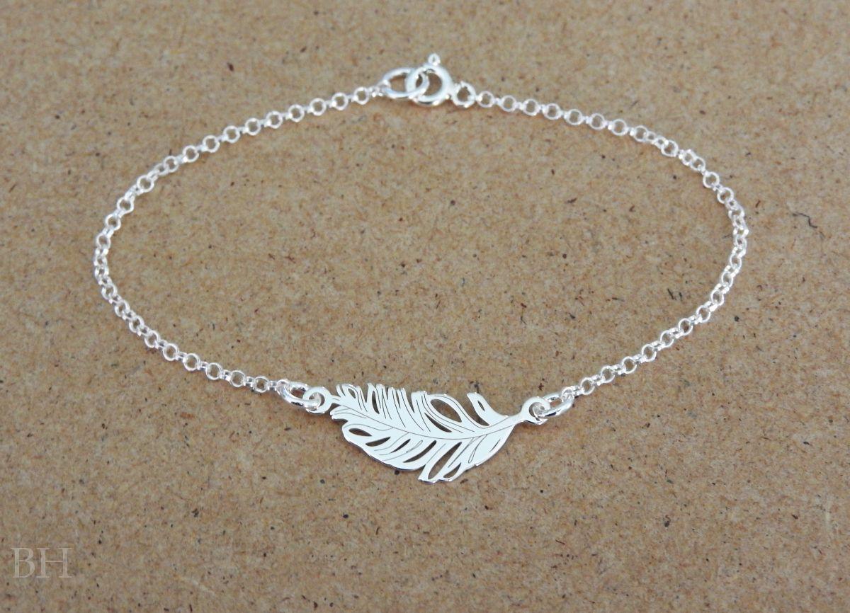 Bransoletka piÓrko celebrytka srebro p silver bracelets