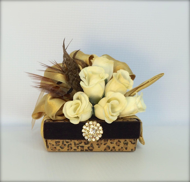 Favor box jewelry gift box leopard brown gift box wedding