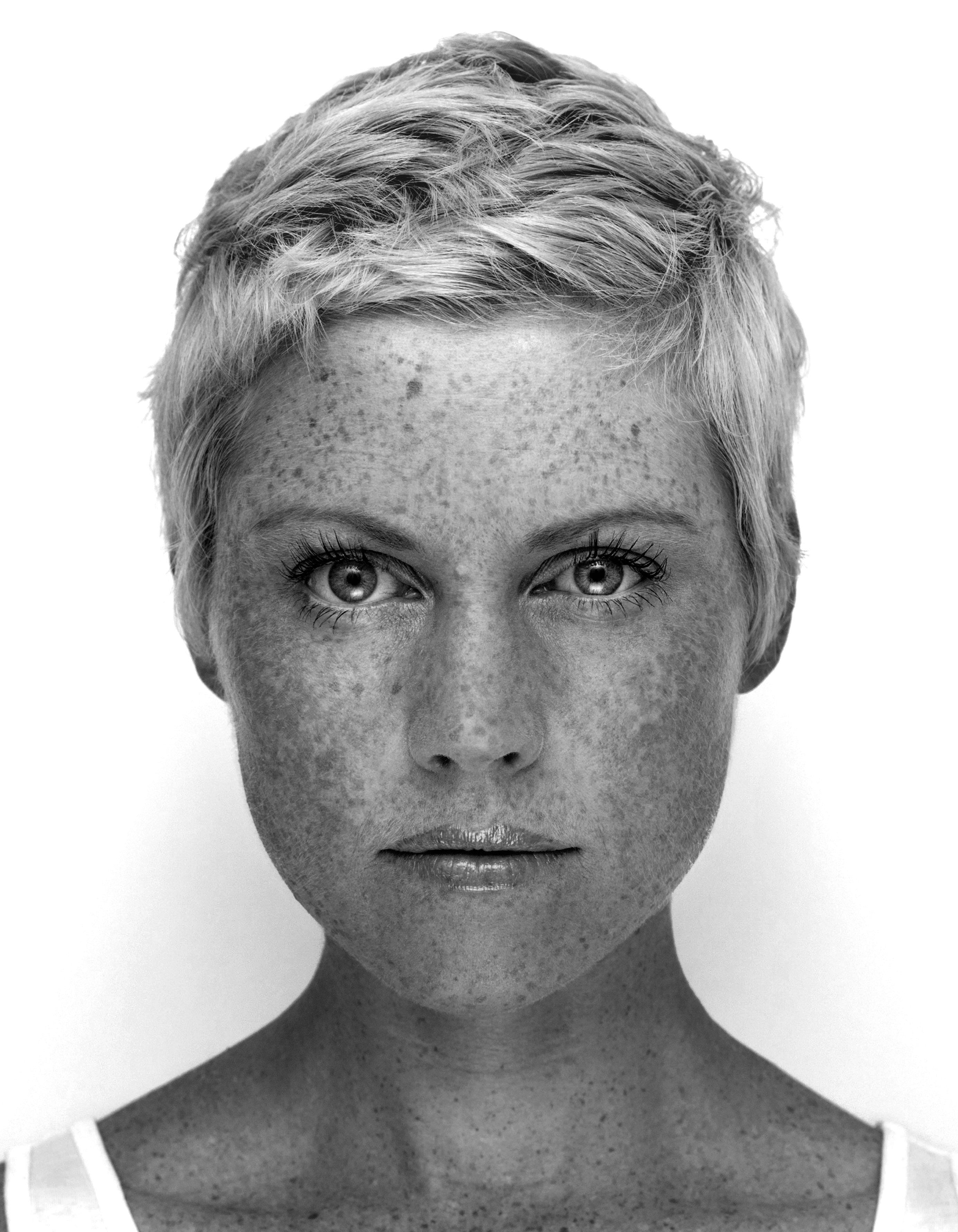 Blonde crop by tanja muku hairdressers freckles freckles