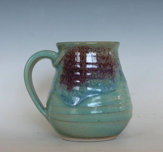 LARGE Coffee Mug Pottery, 20 oz, unique coffee mug, handmade ceramic cup, handthrown mug, stoneware mug, pottery mug, ceramics and pottery