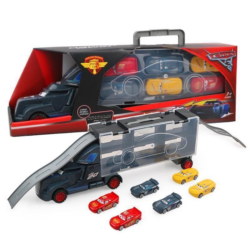 7pcs Pixar Cars 3 Lightning Mcqueen Jackson Storm Mack Uncle Truck